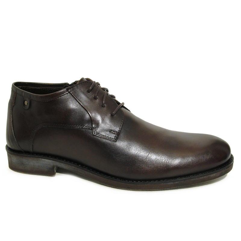 b0b73f3c Ботинки зимние R17845-481-2 кожа-мех коричневые