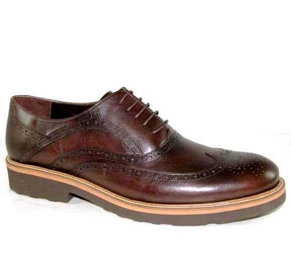 30e3c6702 Туфли мужские R400-481 кожа-кожа темно-коричневый